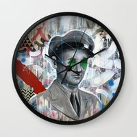 soldier Wall Clocks featuring The Forgotten Soldier by FAMOUS WHEN DEAD