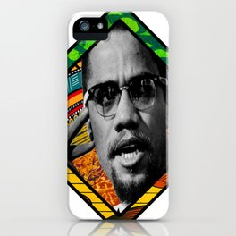 Malcolm Afro Print iPhone Case