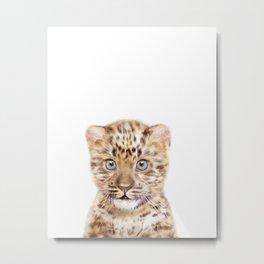 Baby Leopard Art Print by Zouzounio Art Metal Print