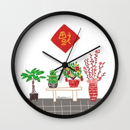 lucky tree Wall Clock