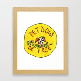 pet dogs, be free Framed Art Print