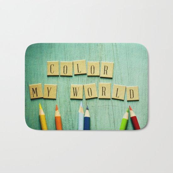 Color My World Bath Mat