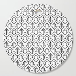 Hand Drawn Hypercube Cutting Board