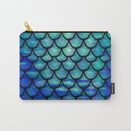 Ocean Mermaid scales Carry-All Pouch