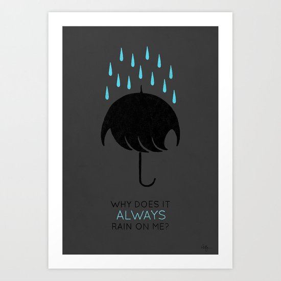 Umbrellas are Emo Art Print