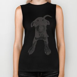 Cute playful puppy wagging it's tail. Biker Tank