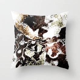 Dirty abstract Throw Pillow