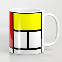 ysl Mugs featuring Mondrian by  Can Encin