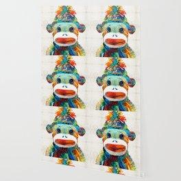 Sock Monkey Art - Your New Best Friend - By Sharon Cummings Wallpaper
