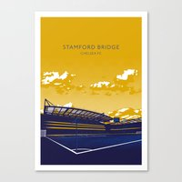 chelsea fc Canvas Prints featuring Stamford Bridge (Chelsea FC) by IamBlonde