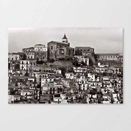 Sicilian Mountain Village Canvas Print