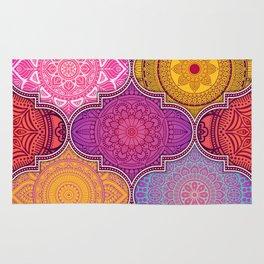 Bright Colorful Summer Moroccan Lantern Pattern, Bohemian Color Decor Rug