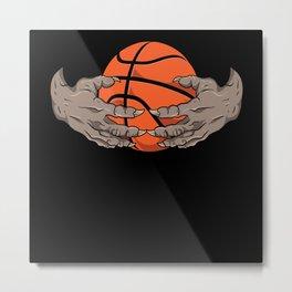 Basketball Beast Fashion Motif Metal Print