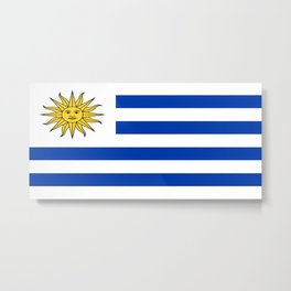 flag of Uruguay-Uruguyan,montevideo,spanish,america,latine,Salto,south america,paysandu,costa,sun,be Metal Print
