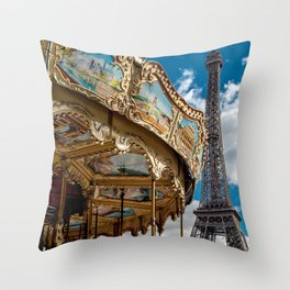 I heart Paris Throw Pillow