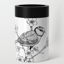 Parus with cherry blossoms Can Cooler