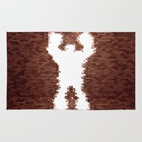 wreck it ralph Area & Throw Rugs featuring Wreck It - Ralph by albert Junior