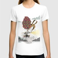 brompton T-shirts featuring Flying Bicycle by Wyatt Design