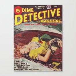 Dime Detective Magazine - January 1946 Canvas Print