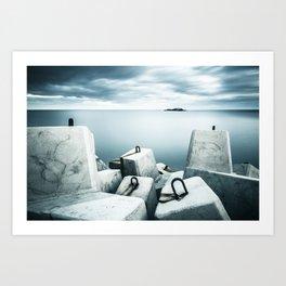 The Breakwall Art Print