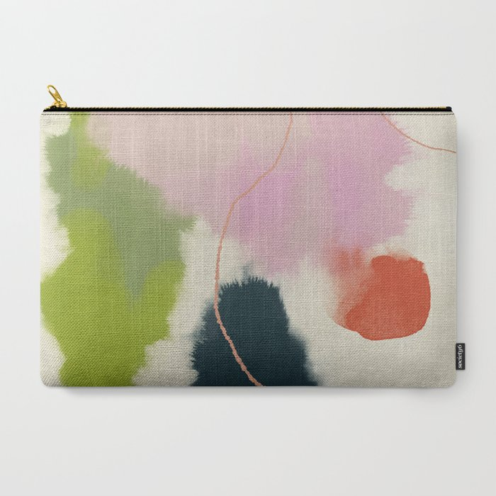 sky_abstract_with_pink_&_green_clouds_CarryAll_Pouch_by_lalunetricotee__Large_125_x_85