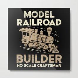 Model Train Train For Locomotive Lovers Metal Print