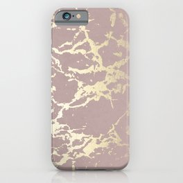 Kintsugi Ceramic Gold on Clay Pink iPhone Case