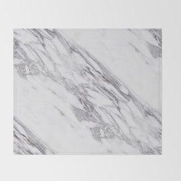 Alabaster marble Throw Blanket