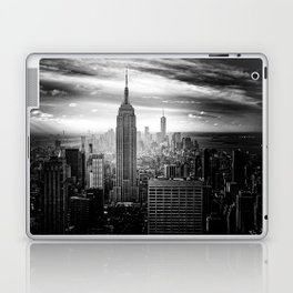 New york city black white 2 Laptop & iPad Skin