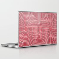 boobs Laptop & iPad Skins featuring Robotic Boobs Red by Mr Christer Design