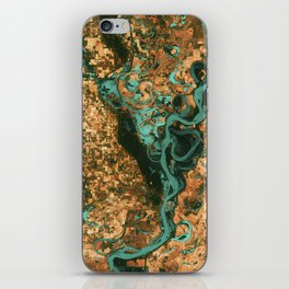 Views of life from space iPhone Skin