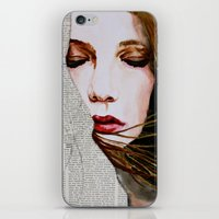 literary iPhone & iPod Skins featuring Literary Girl by Charlotte Massey