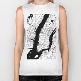 New York City Minimal Map Biker Tank