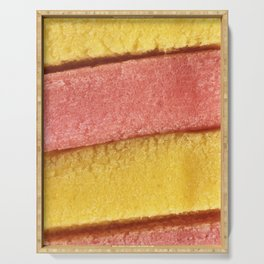 Yellow Peach Colored Bubble Gum Texture Serving Tray