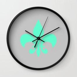 Fleur Green Wall Clock