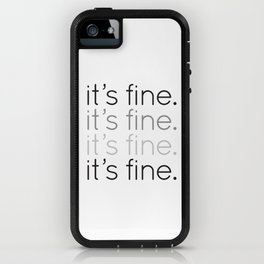 it's fine. iPhone Case