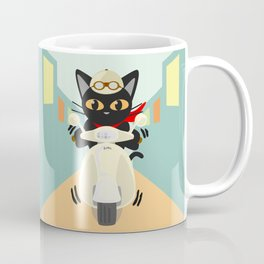 Scooter in the town Coffee Mug