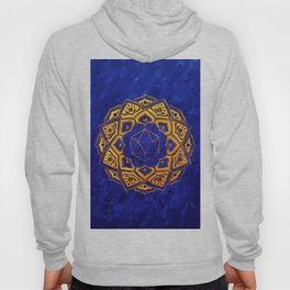 """Cosahedron, sacred geometry""  WATERCOLOR MANDALA (HAND PAINTED) BY ILSE QUEZADA Hoody"