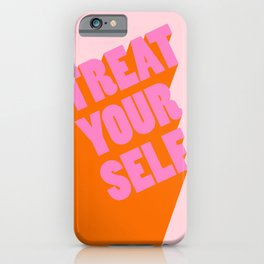 Treat Yourself | Peach iPhone Case