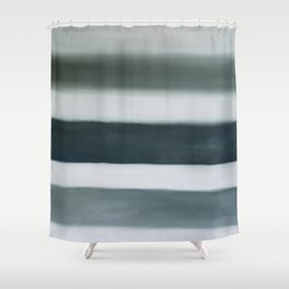 grey strata Shower Curtain