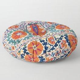 Shakhrisyabz Suzani Uzbekistan Antique Embroidery Print Floor Pillow