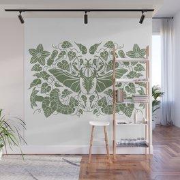 Beetle Bloom Green Wall Mural