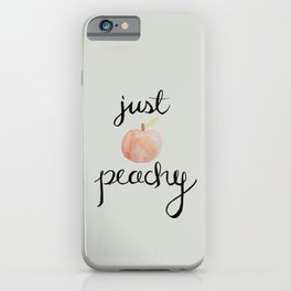 Just Peachy// Watercolor Illustration iPhone Case