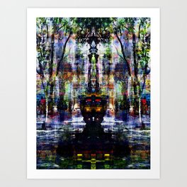 Bewilderment orchestration, reconsidered normality. Art Print