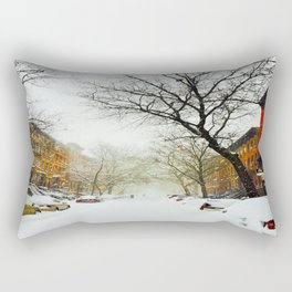 NYC @ Snow Time Rectangular Pillow