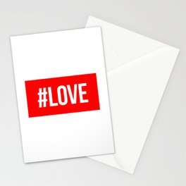 Hashtag Love Stationery Cards