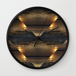 Sunset Kaliedoscope Wall Clock