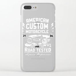 American Custom Motorcycle Road Tested Clear iPhone Case