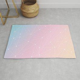 Rainbow Watercolor Astronomy Rug