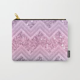 Unicorn Glitter Chevron #1 #pastel #shiny #decor #art #society6 Carry-All Pouch